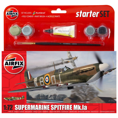 AIRFIX STARTER SET SPITFIRE MK1A 1:72 Model Kit