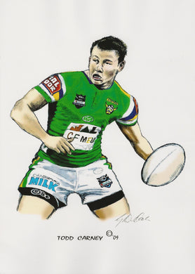 Todd Carney, GregsArt A4 Print
