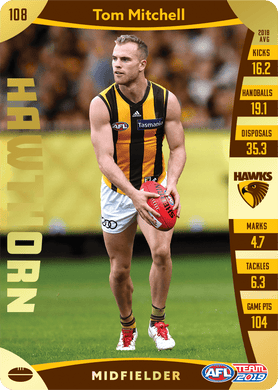 Tom Mitchell, Gold, 2019 Teamcoach AFL