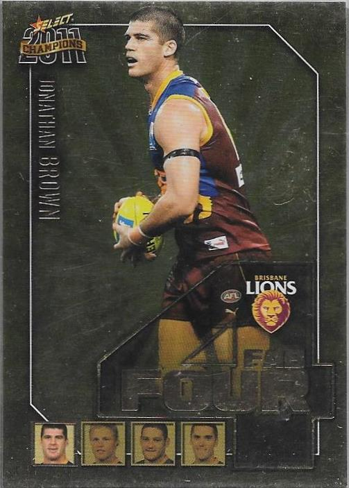 Brisbane Lions, Fab Four Team Set, 2011 Select AFL Champions