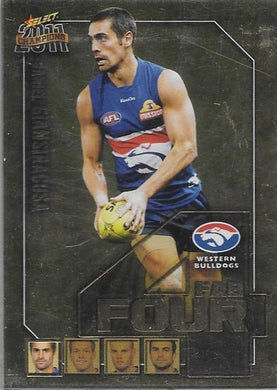 Western Bulldogs, Fab Four Team Set, 2011 Select AFL Champions