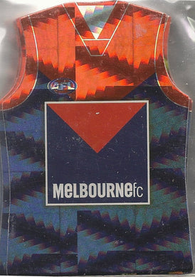 Melbourne Demons, Holofoil Guernsey Die-cut Team Set, 2010 Select AFL Prestige