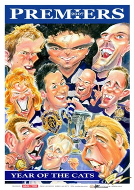 Geelong Cats, 2007 Premiers Players, Harv Time Poster