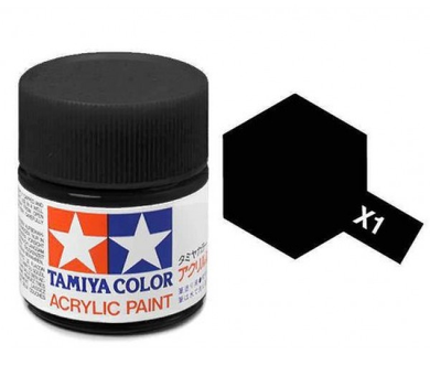 TAMIYA ACRYLIC MINI X-1 BLACK 10ml