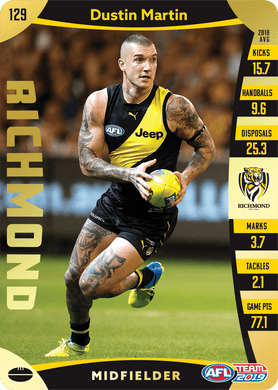 Dustin Martin, Gold, 2019 Teamcoach AFL