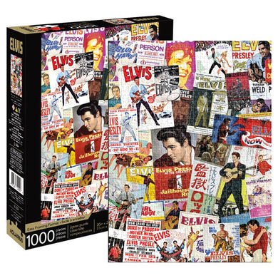 Elvis Movie Poster Collage 1000 Piece Jigsaw Puzzle by Aquarius