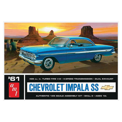 1961 Chevy Impala SS Plastic Kit, 1:25 Scale Model Kit