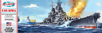 USS Iowa Battleship Plastic Kit, 1:535 Scale Model Kit