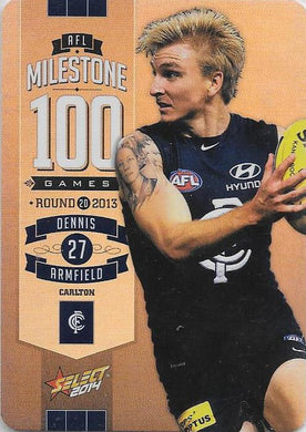 Dennis Armfield, 100 Game Milestone, 2014 Select AFL Champions