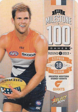 Stephen Gilham, 100 Game Milestone, 2014 Select AFL Champions