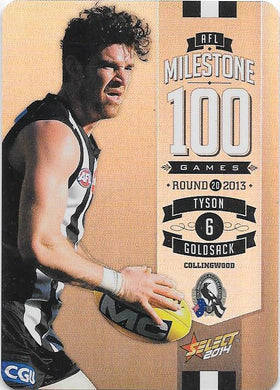Tyson Goldsack, 100 Game Milestone, 2014 Select AFL Champions