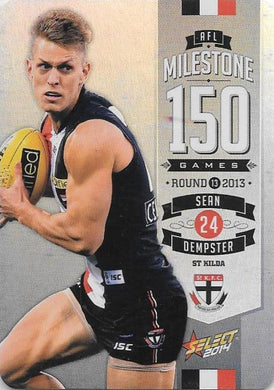 Sean Dempster, 150 Game Milestone, 2014 Select AFL Champions