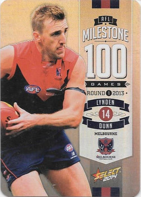 Lynden Dunn, 100 Game Milestone, 2014 Select AFL Champions
