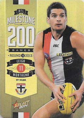 Leigh Montagna, 200 Game Milestone, 2014 Select AFL Champions