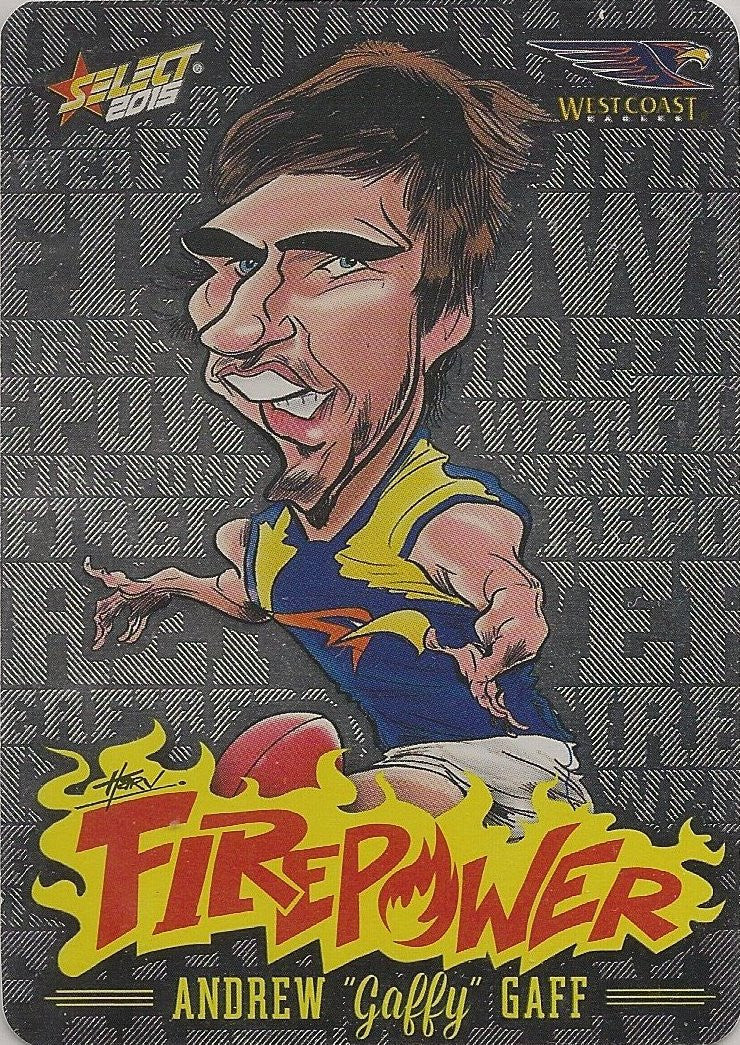 Andrew Gaff, Firepower Caricatures, 2015 Select AFL Champions