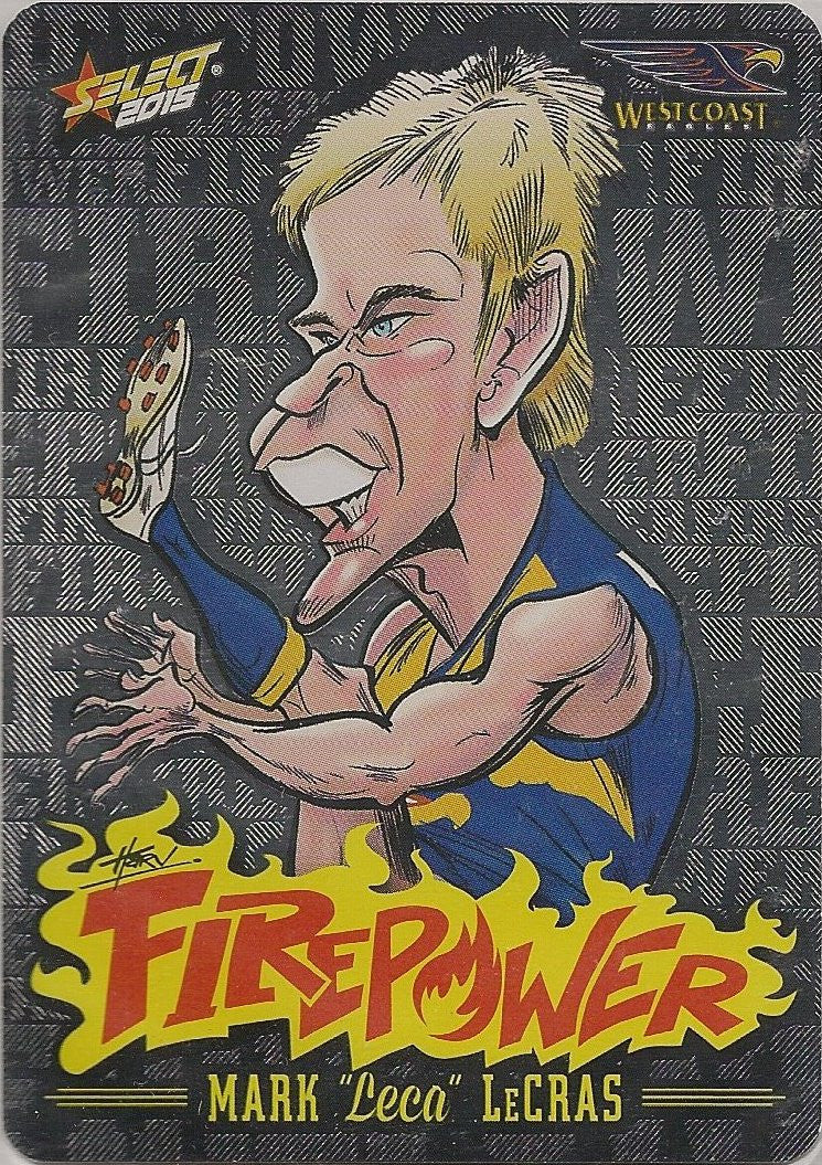 Mark Lecras, Firepower Caricatures, 2015 Select AFL Champions