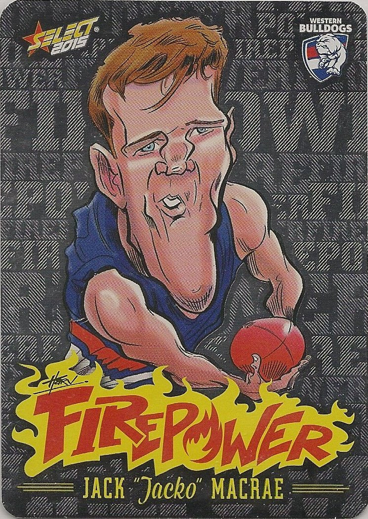 Jack Macrae, Firepower Caricatures, 2015 Select AFL Champions
