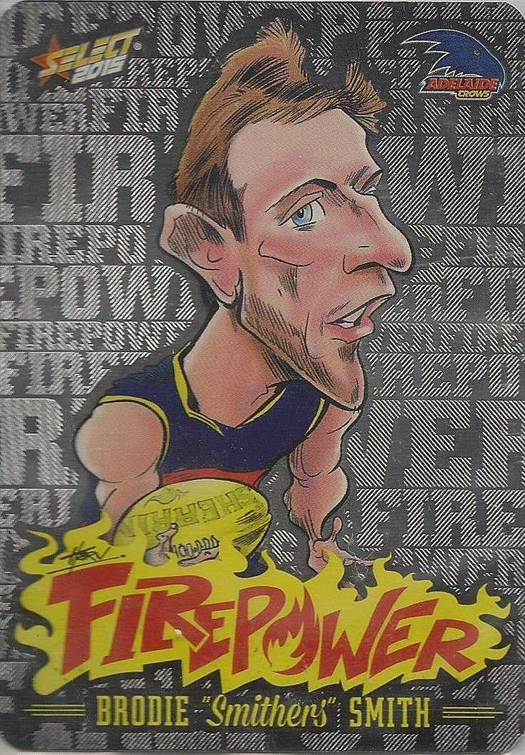 Brodie Smith, Firepower Caricatures, 2015 Select AFL Champions