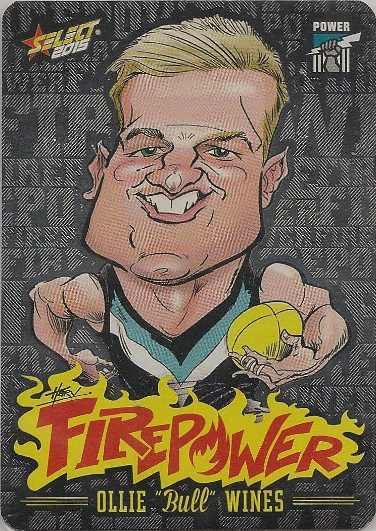 Ollie Wines, Firepower Caricatures, 2015 Select AFL Champions