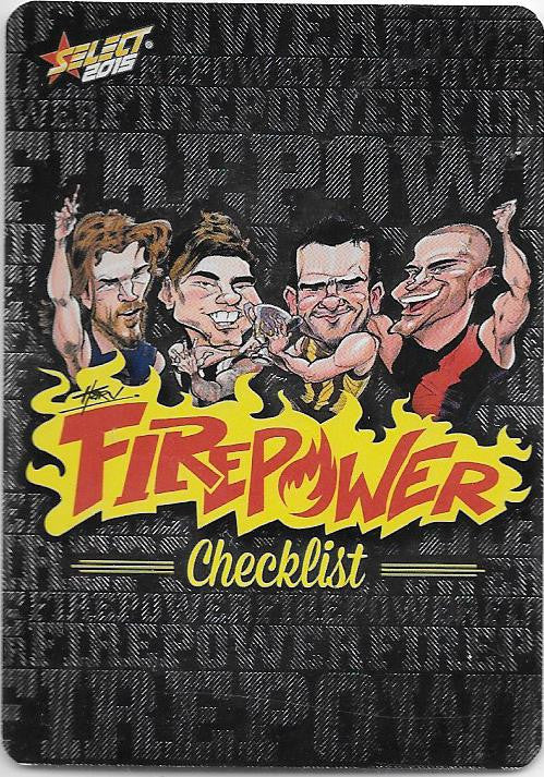 Firepower Caricatures Checklist, 2015 Select AFL Champions