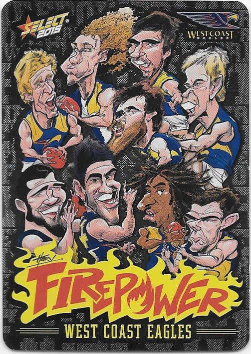 West Coast Eagles, Firepower Caricatures Checklist, 2015 Select AFL Champions