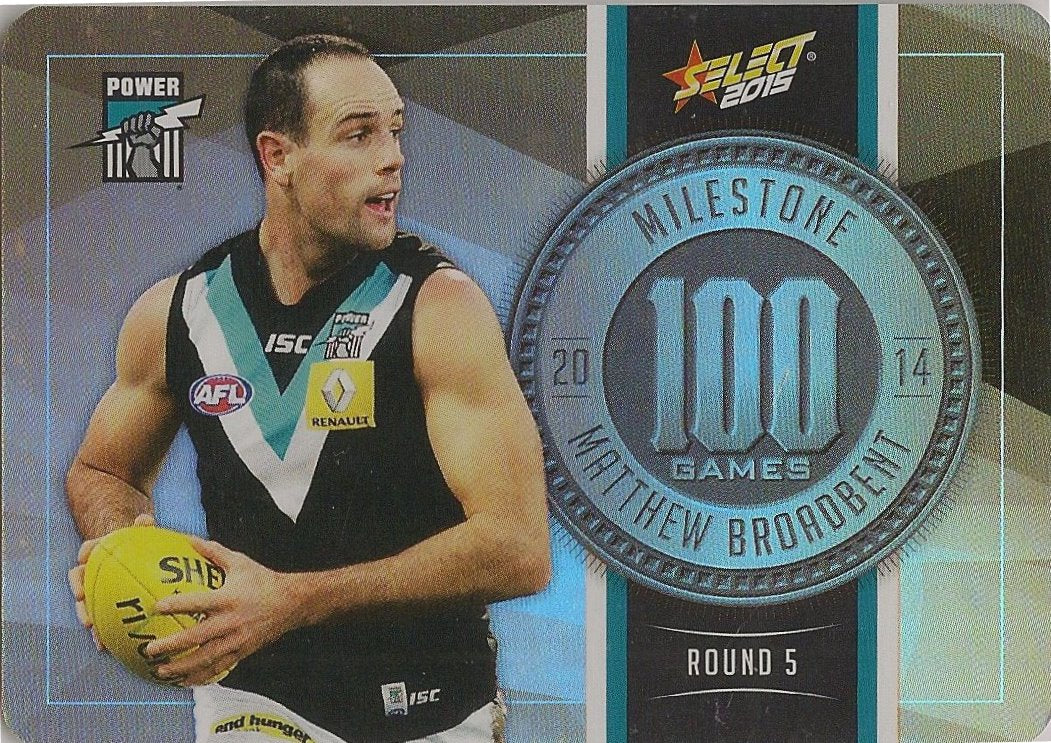 Matthew Broadbent, 100 Games Milestone, 2015 Select AFL Champions