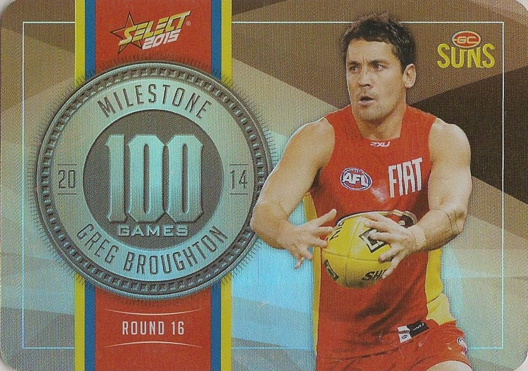 Greg Broughton, 100 Games Milestone, 2015 Select AFL Champions