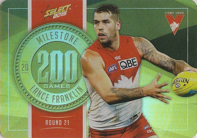 Lance Franklin, 200 Games Milestone, 2015 Select AFL Champions
