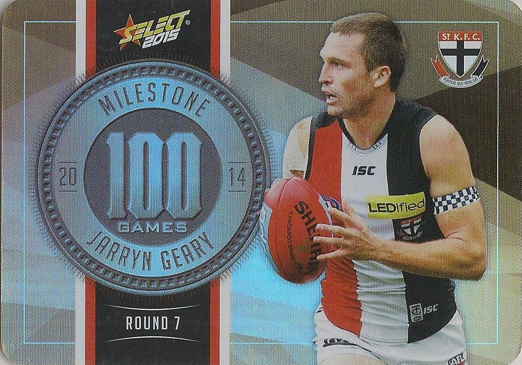 Jarryn Geary, 100 Games Milestone, 2015 Select AFL Champions