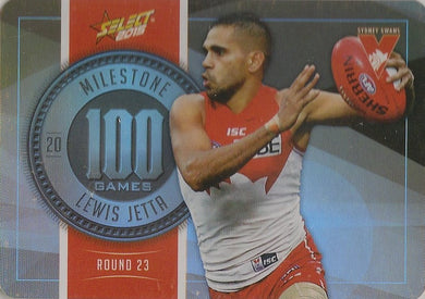 Lewis Jetta, 100 Games Milestone, 2015 Select AFL Champions