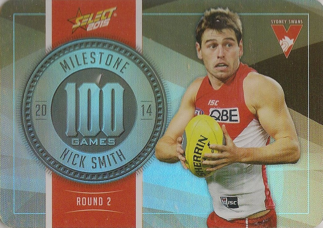 Nick Smith, 100 Games Milestone, 2015 Select AFL Champions