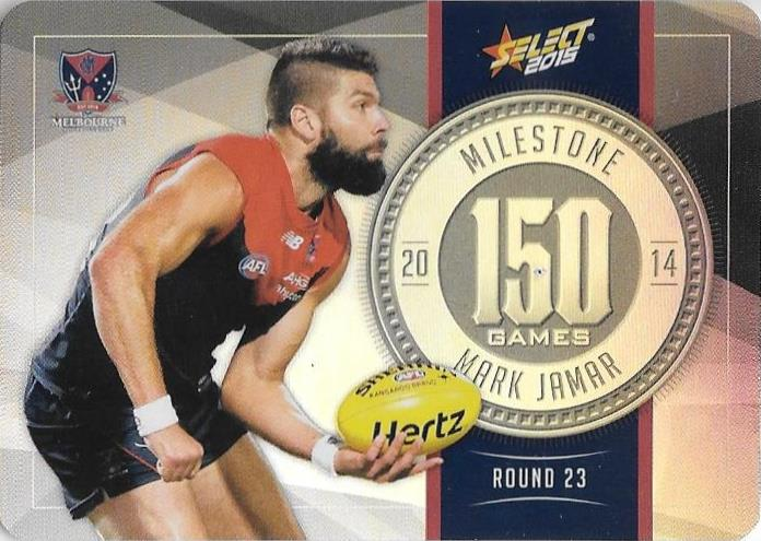 Mark Jamar, 150 Games Milestone, 2015 Select AFL Champions