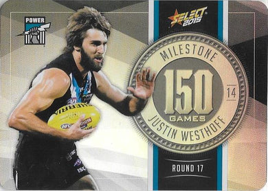Justin Westhoff, 150 Games Milestone, 2015 Select AFL Champions