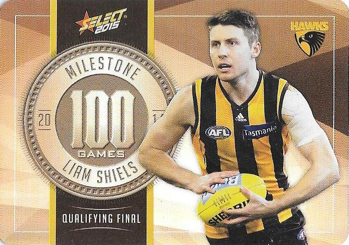 Liam Shiels, 100 Games Milestone, 2015 Select AFL Champions