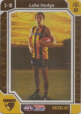 Luke Hodge, Captain Checklist, 2015 Teamcoach AFL