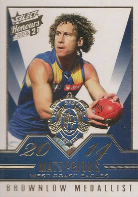 Matt Priddis, Brownlow Gallery, 2015 Select AFL Honours 2