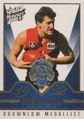Brian Wilson, Brownlow Gallery, 2015 Select AFL Honours 2