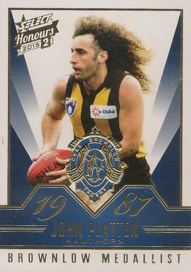 John Platten, Brownlow Gallery, 2015 Select AFL Honours 2