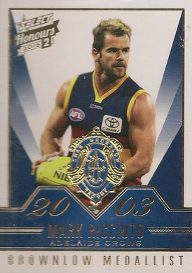 Mark Ricciuto, Brownlow Gallery, 2015 Select AFL Honours 2