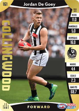 Jordan De Goey, Gold, 2019 Teamcoach AFL