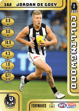 Jordan De Goey, Gold, 2018 Teamcoach AFL