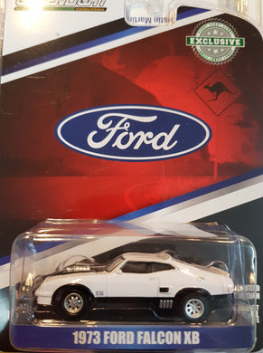 1973 Ford Falcon XB, Custom White with Black Stripes, 1:64 Diecast Vehicle