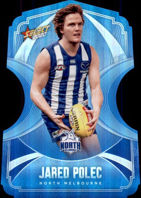 Jared Polec, Ice Blue Diecuts, 2020 Select AFL Footy Stars