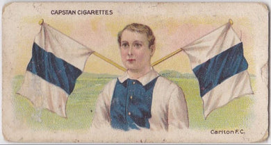 1913 Capstan Cigarettes, Football Colours and Flags, Carlton FC