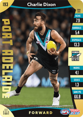 Charlie Dixon, Gold, 2019 Teamcoach AFL