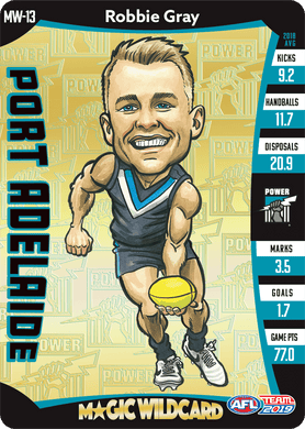 Robbie Gray, Magic Wildcard, 2019 Teamcoach AFL