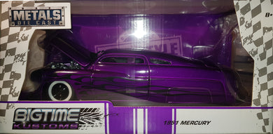 1951 Mercury, Candy Purple, Big Time Kustoms, 1:24 Diecast Vehicle