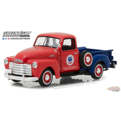 1953 Chevrolet 3100 Pickup Standard Oil, Running on Empty Series, 1:43 Diecast Vehicle