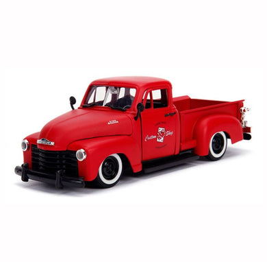 Primer Red 1953 Chevrolet Pickup, Big Time Muscle, 1:24 Diecast Vehicle