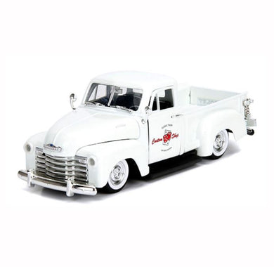 Pearl White 1953 Chevrolet Pickup, Big Time Muscle, 1:24 Diecast Vehicle